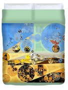 Abstract Painting - Brown Pod Duvet Cover