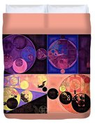 Abstract Painting - Seal Brown Duvet Cover