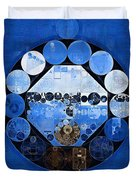 Abstract Painting - Yale Blue Duvet Cover