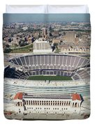 Aerial View Of A Stadium, Soldier Duvet Cover