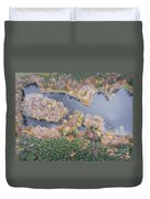 Aerial View Of The Forrest With Different Color Trees.  Duvet Cover