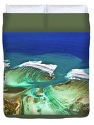 Aerial View Of The Underwater Channel. Mauritius Duvet Cover