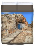 Agioi Saranta Cave Church - Cyprus Duvet Cover