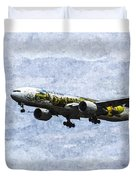 Air New Zealand Hobbit Boeing 777 Art Duvet Cover