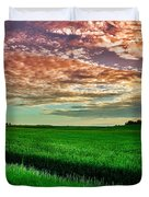 An Iowa Sunset Duvet Cover