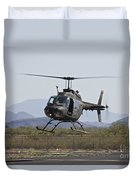 An Oh-58 Kiowa Helicopter Of The U.s Duvet Cover