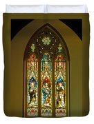 3 Apostles South Stained Glass Window Christ Church Cathedral 1 Duvet Cover