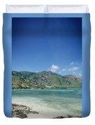 Areia Branca Tropical Beach View Near Dili In East Timor Duvet Cover
