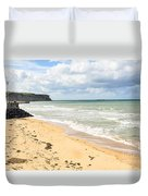 Arromanches Beach Duvet Cover