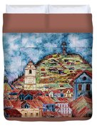 Artisan Market In Quito Duvet Cover