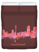 Auckland New Zealand Skyline Duvet Cover