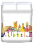 Austin Texas Skyline Duvet Cover