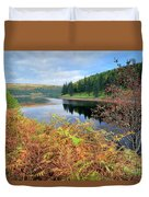 Autumn Derwent Reservoir Derbyshire Peak District Duvet Cover