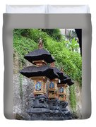 3 Bali Shrines Duvet Cover