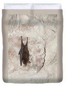 Bats Inside The Pyramid At Grupo Nohoch Mul At The Coba Ruins  Duvet Cover