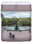 Bethesda Fountain Duvet Cover