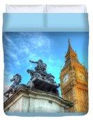 Big Ben And Boadicea Statue  Duvet Cover