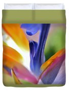 3 Bird Of Paradise Macro Duvet Cover
