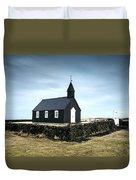 Black Church Of Budir, Iceland Duvet Cover