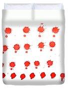 Blood Droplet Duvet Cover