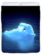Blue Icebergs And Ice Chunks In Water Nearby Alaska Duvet Cover