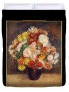 Bouquet Of Chrysanthemums Duvet Cover