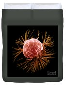 Breast Cancer Cell Duvet Cover