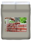 Bricklaying Duvet Cover