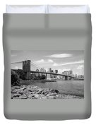 Brooklyn Bridge - New York City Skyline Duvet Cover