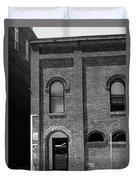 Burlington North Carolina - Arches And Alley Bw Duvet Cover