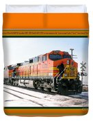 Burlington Northern Santa Fe Bnsf - Railimages@aol.com Duvet Cover