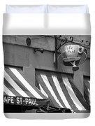 Cafe St. Paul - Montreal Duvet Cover