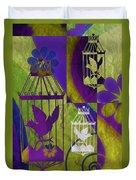 3 Caged Birds Duvet Cover