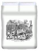 California Gold Rush, 1860 Duvet Cover