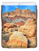 Capitol Reef Sunset Duvet Cover