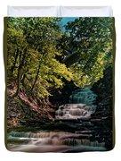 Cascadilla Gorge Falls Duvet Cover
