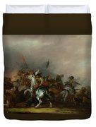 Cavalry Attacked By Infantry Duvet Cover