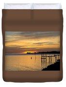 Cedar Key Sunset Duvet Cover