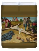 Christ Nailed To The Cross Duvet Cover