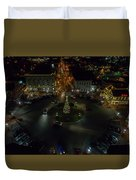 Christmas Lights, Looking West Duvet Cover