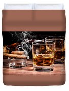 Cigar And Alcohol Collection Duvet Cover