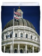City Views Around California State Capitol Building In Sacrament Duvet Cover