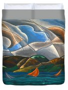 Clouds And Water Duvet Cover