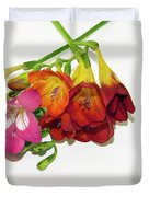 Colorful Freesia Duvet Cover