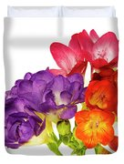Colorful Freesias Duvet Cover
