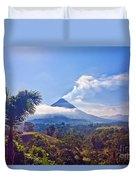 Costa Rica Volcano Duvet Cover