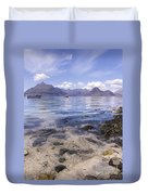 Cuillin Mountains From Elgol Duvet Cover