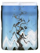Dead Pine Tree Abstract Duvet Cover