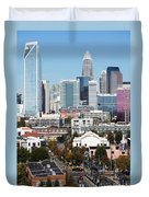 Downtown Charlotte North Carolina From The South End Duvet Cover