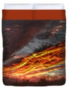 Dramatic Skies Great Smoky Mountains Nc At Sunset In Winter Duvet Cover